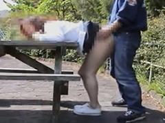 セックスフレンドの熟女を調教したら野外でもスカートをめくり上げて立ちバックさせてくれた